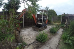 Landscaping with Water Feature in Kingsbury (Preparation)